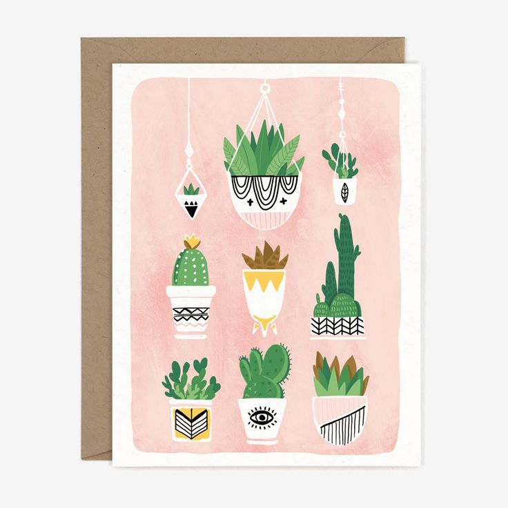 Cactus Plants Card