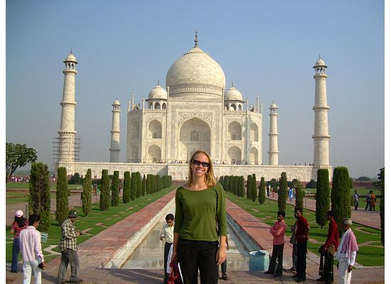 Sarah lived in India for four months and worked for an AIDS outreach hospital through AIESEC.