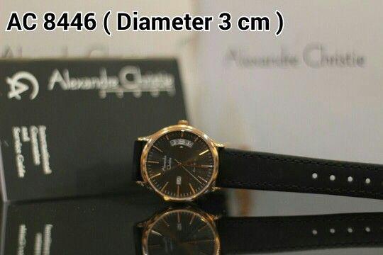 ALEXANDRE CHRISTIE 8446 Harga IDR 950.000 Material : Leather black - ring rosegold Diameter 3 cm Garansi mesin 1 tahun international