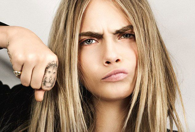 cara delevingne tattoo | cara-delevingne-lion-tattoo