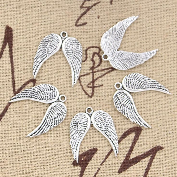 99Cents 8pcs Charms angel wings 21*19mm Antique Making pendant fit,Vintage Tibetan Silver,DIY bracelet necklace