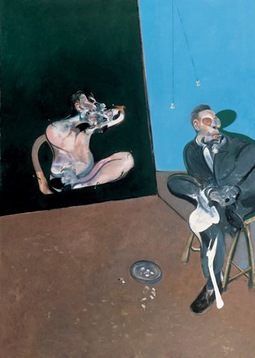 """""""Two Studies for a Portrait of George Dyer"""" by Francis Bacon, 1968"""