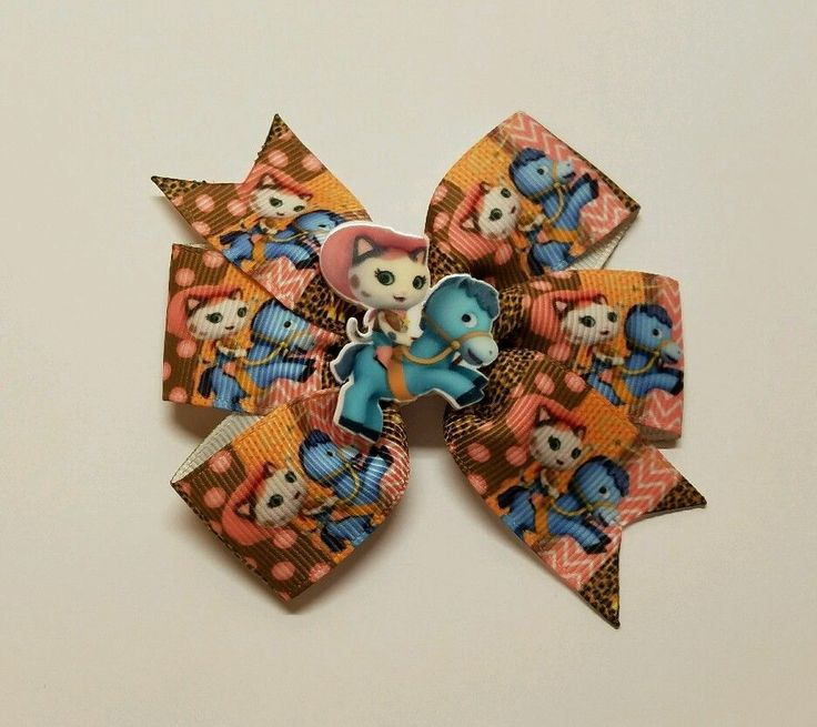 2 Sheriff Callie's Wild West Inspired Hair Bows/ Boutique Pigtail Bows    #Unbranded
