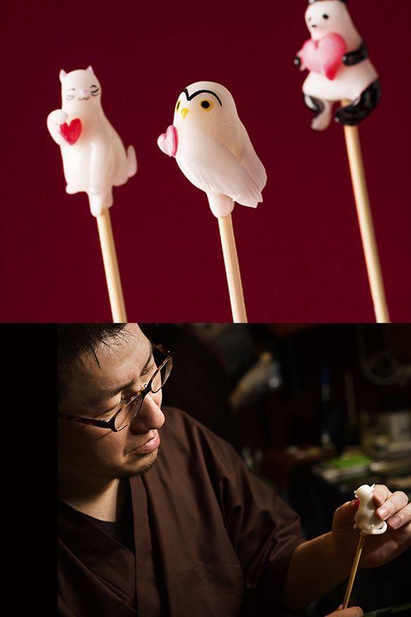 日本の伝統「飴細工」は、他と差をつける意外なプレゼントとしてオススメ。