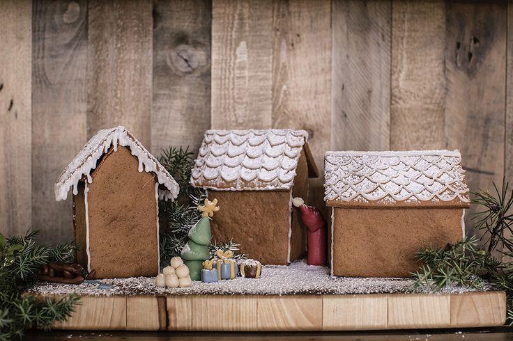 Bygg små pepparkakshus till jul! Vi har en enkel mall.