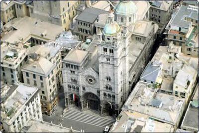 Cathedral of San Lorenzo in Genoa, Italy - dates from 12th century
