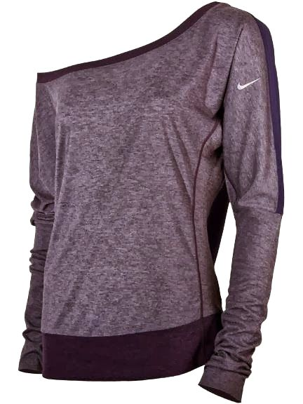 Women's Nike One Shoulder Top. Perfect for lounging around, but not looking like a mess.