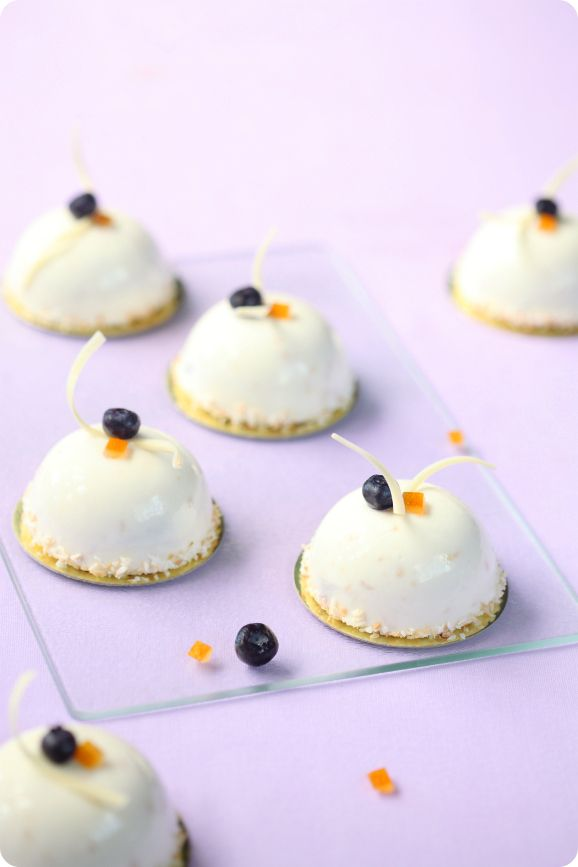 Чернично-апельсиновые пирожные / Mini tortas de mirtilo e laranja