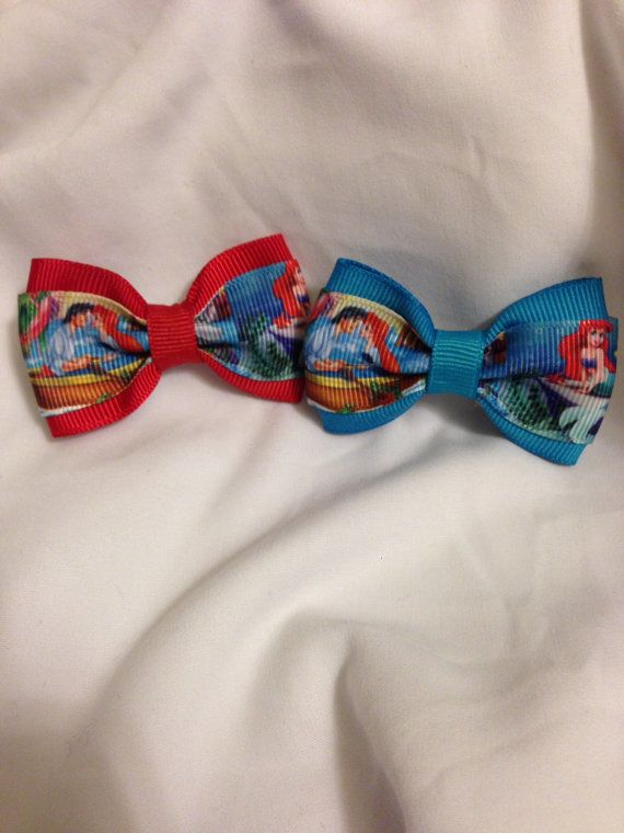 The Little Mermaid Kiss the Girl Hair Bow by 2Marys on Etsy, $2.00