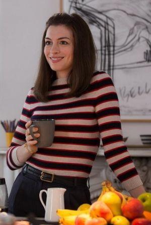 Anne Hathaway the Intern Anne Hathaway wearing Celine Knot Bracelet and Balenciaga Belt