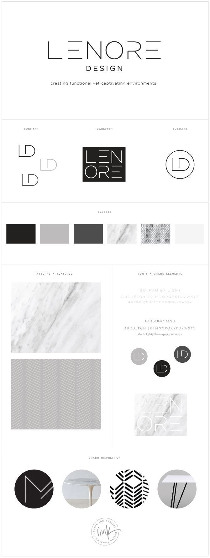 Brand launch lenore interior design brand board for Interior design branding agency