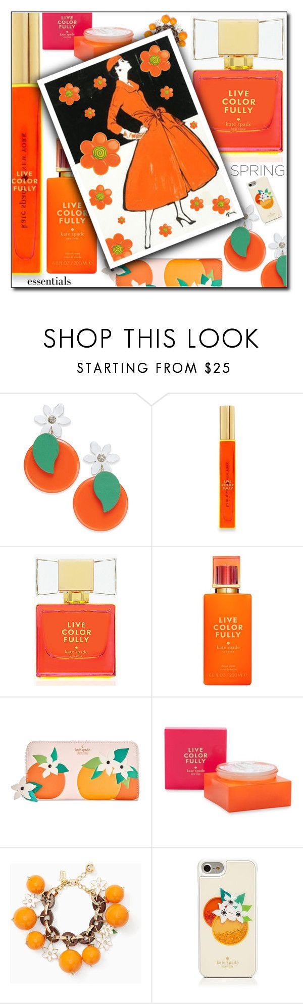 """""""In Bloom: Spring Perfume// LIVE COLOR FULLY// KATE SPADE"""" by shoaleh-nia on Polyvore featuring Kate Spade"""