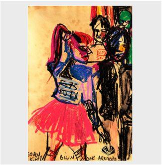 Amigo kız kanvas Kendin Tasarla - Kanvas Tablo 60x90 cm Dikey