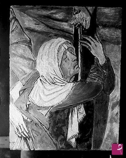 Maria ai piedi della croce. di Lucia Di Giacinto
