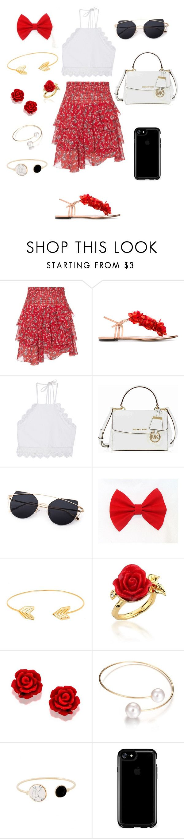 """""""Untitled #93"""" by samanthapretor ❤ liked on Polyvore featuring Exclusive for Intermix, Charlotte Olympia, Front Row Shop, Michael Kors, Lord & Taylor, Disney Couture and Speck"""