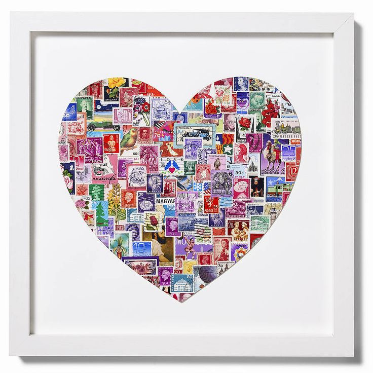 Stamp decoupage-finally something to do with the stamp collection