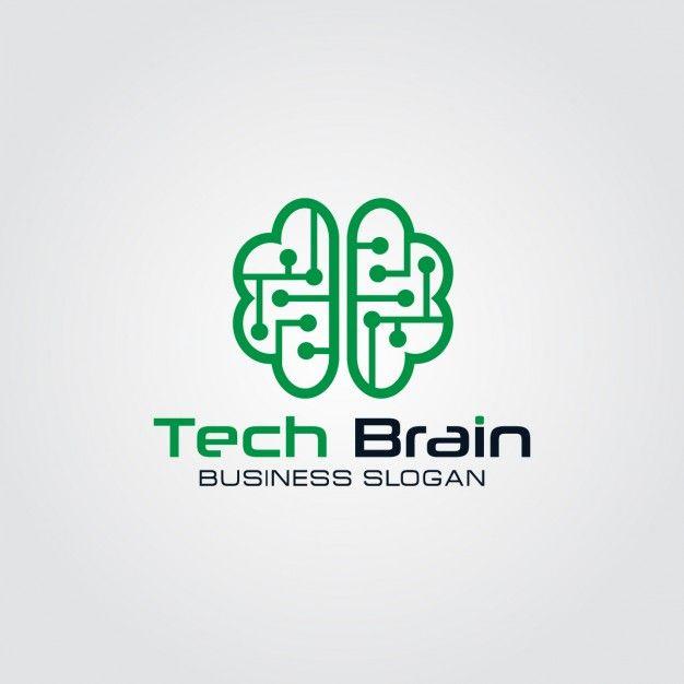 Технология Мозг Логотип Бесплатные векторы