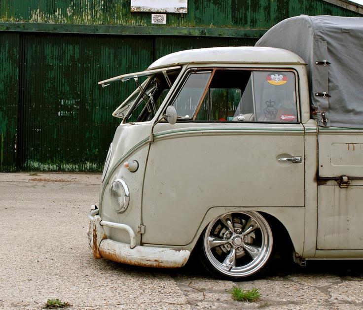 Slammed VW Bus  #VW, #volkswagen, #bus, #van, #slammed, #stance, #stanced