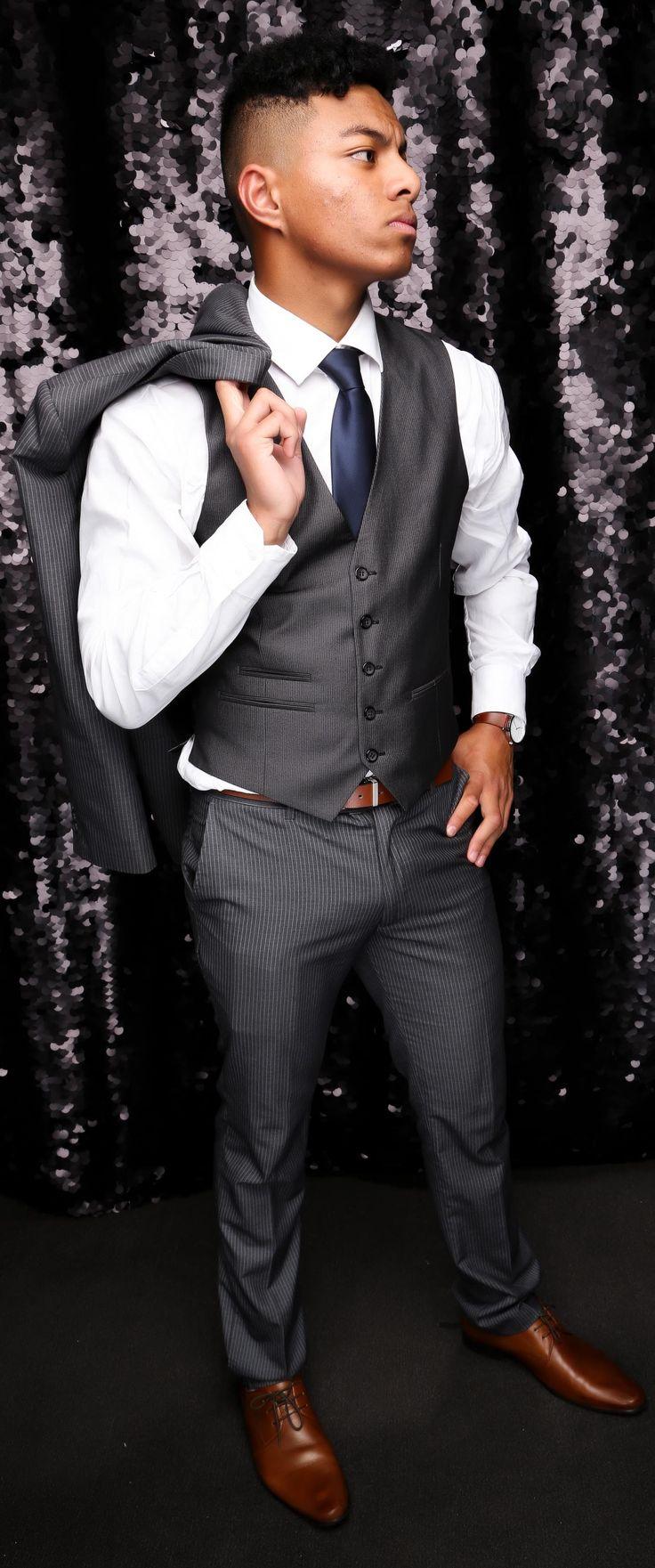 Rosehill College School Ball 2017. Very sharp three-piece suit!