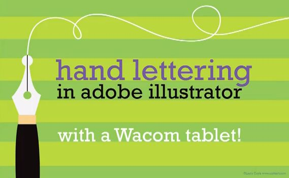 Wacom hand lettering tutorial by Laura Coyle