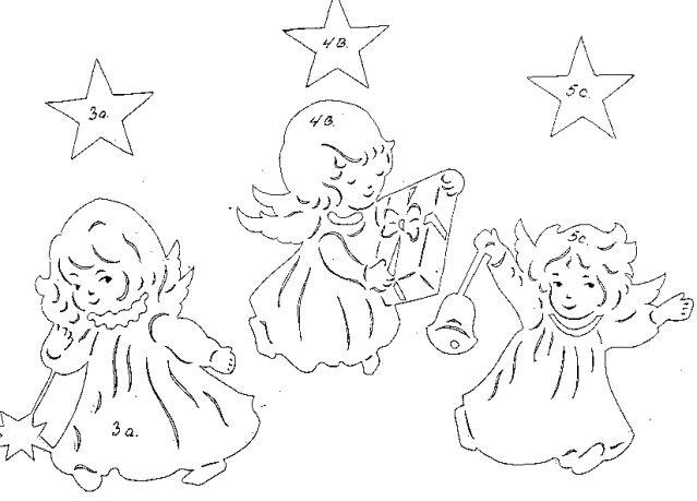 -рождественская-картинка-ангелочек-шаблон-схема-на-тему ...