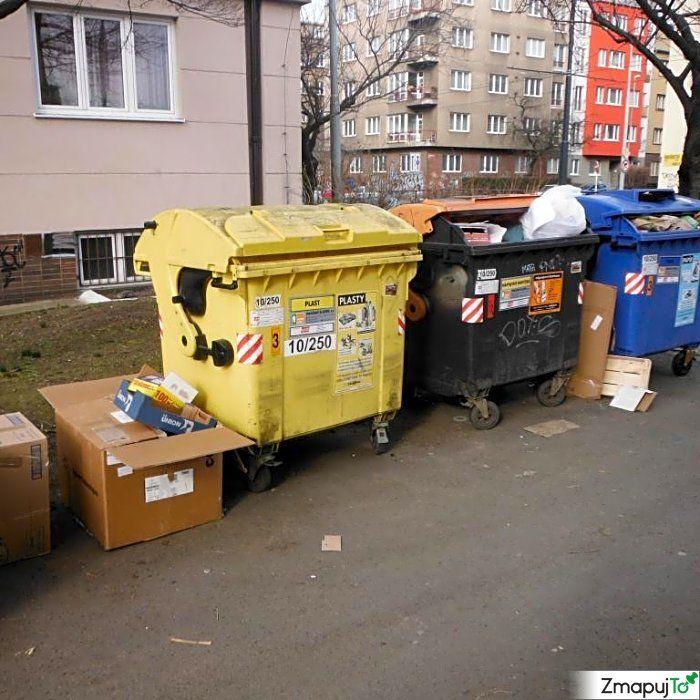 Podnět 145647 - Odpadkový koš kontejner - Praha 10 #Odpadkovýkoškontejner #Praha10 #ZmapujTo #MobilniRozhlas