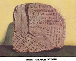 """Prior to """"Hottentot Harry"""" being South Africa's first """"postmaster"""", sailors would leave letters in trees - or under stones marked with messages. This is our """"Post Office Stone""""... and I complain about snail mail..."""