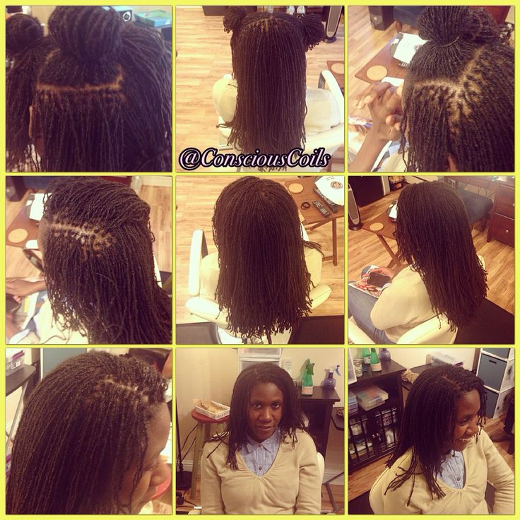 Style Sisterlocks Retight Client's Hair Type 4b/c Hair