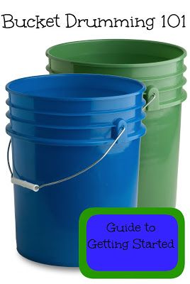Bucket Drumming 101: Getting Started (kids probably don't need too many instructions when it comes to bucket drums, but this website is great!)