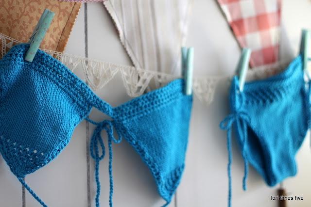 The cutest knitted Bikini.  Pattern here http://www.joanneyordanou.com/pattern-freebies.html