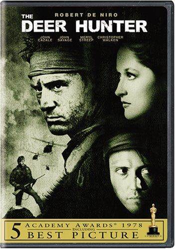The Deer Hunter -   This critically acclaimed, extraordinarily powerful film tracks a group of steelworker pals from a Pennsylvania blast furnace to the cool hunting grounds of the Alleghenies to the lethal cauldron of Vietnam. Robert De Niro gives an outstanding performance as Michael, the natural leader of the group. The Deer Hunter is a searing drama of friendship and courage - and what happens to these qualities under hardship. It is a shattering emotional experience you will never…