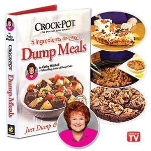 Product # 62481 - Makes preparing dinner easier than ever before. Each recipe uses no more than five simple ingredients and takes less than five minutes to prepare. Simply dump the ingredients into your crock pot and let your slow cooker do all the work. Over 100 recipes. Hard cover.
