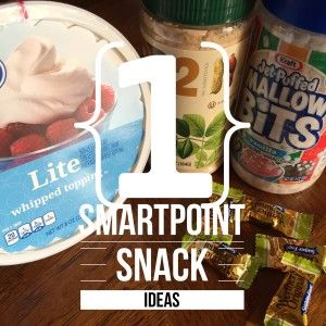 It's hard to find snack ideas that go along with the weight watchers smart points program. Here are a few one smartpoint snacks that I've found.