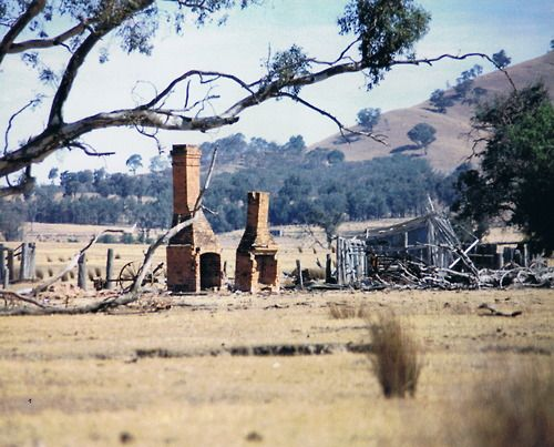 Ruins of Ned Kelly's house. Greta, Victoria, Australia.