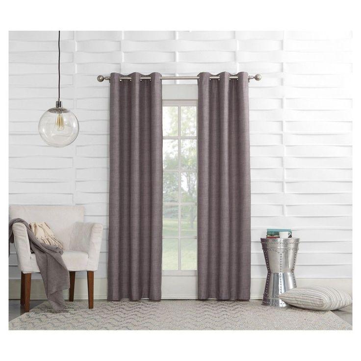 Sun Zero Haverhill Linen Texture Thermal Insulated Energy Efficient Grommet Curtain Panel