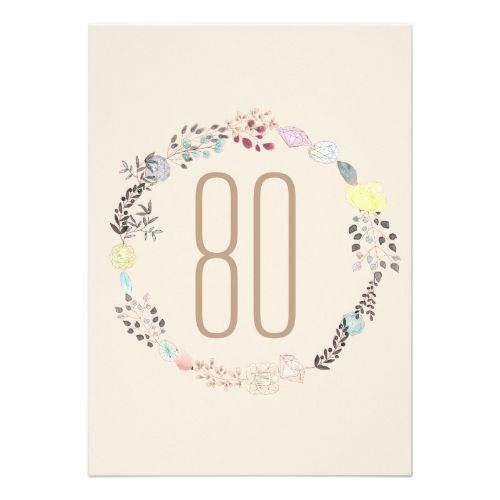 120 best typography birthday invitations images on pinterest fancy flowers and diamonds 80th birthday invitation stopboris Image collections