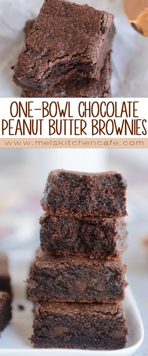 One-Bowl Double Chocolate Peanut Butter Brownies