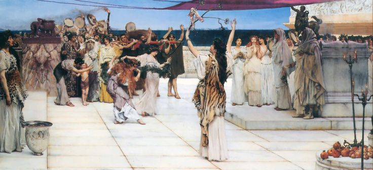 A Dedication to Bacchus - Sir Lawrence Alma-Tadema