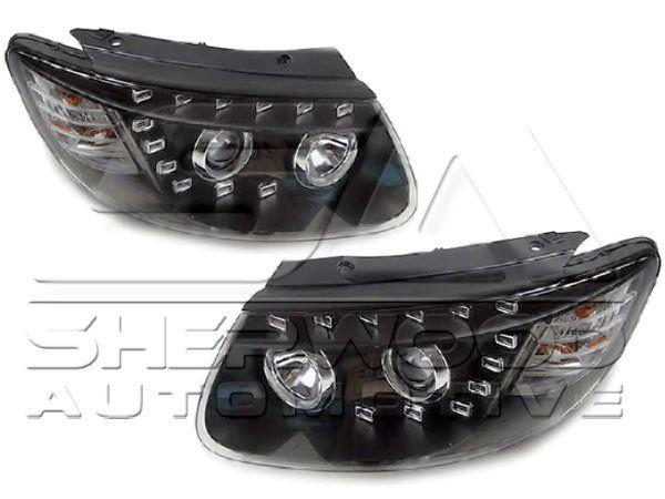 Korean Auto Imports - CM Santa Fe Audi Q7 Style LED Headlights, $695.00 (http://koreanautoimports.com/cm-santa-fe-audi-q7-style-led-headlights/)
