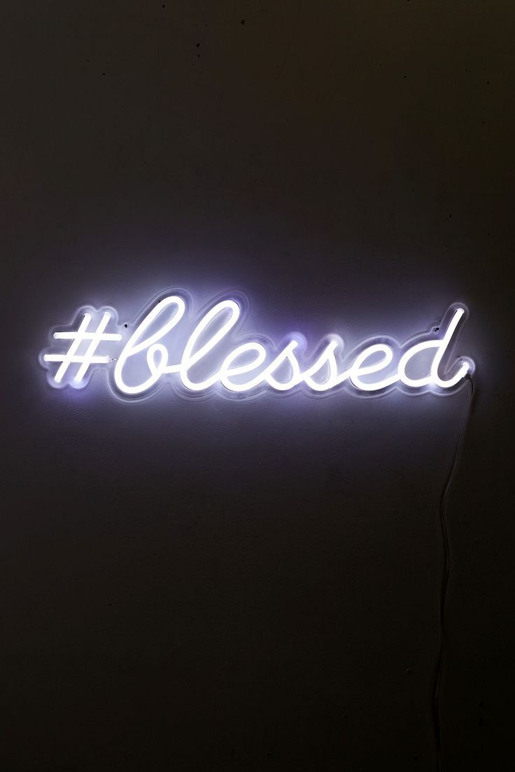 The Oliver Gal Artist Co Blessed Led Neon Sign Neon