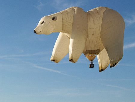TO: @The Food Travel Company TFTC Transatlantic transport..  Is it a boat? Is it a plane?  No it's a Polar Bear Ballon..