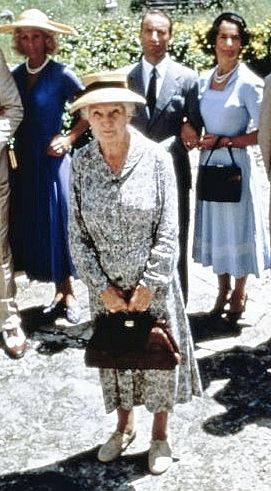 "Joan Hickson as Miss Marple in ""A Caribbean Mystery."""