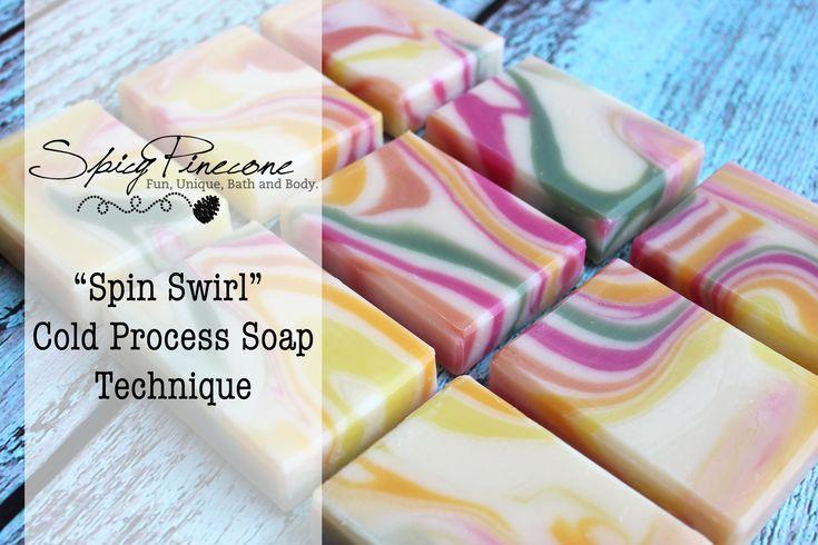 Spin Swirl - Cold Process Soap Technique - YouTube