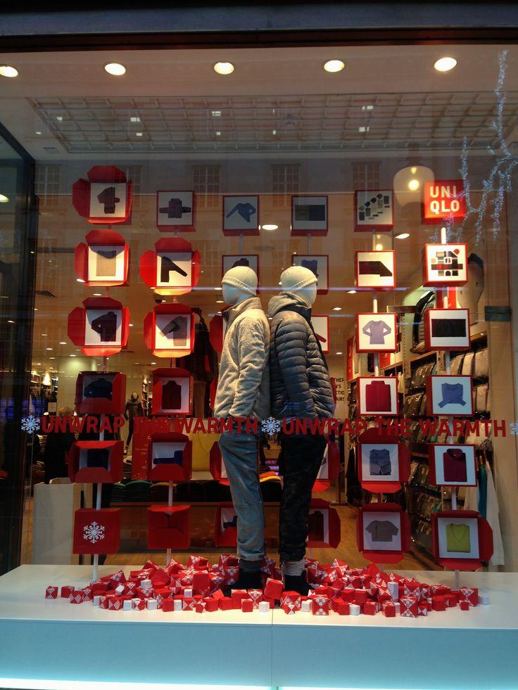 Uniqlo window display. Christmas 2013, London. #retail #merchandising #window_display