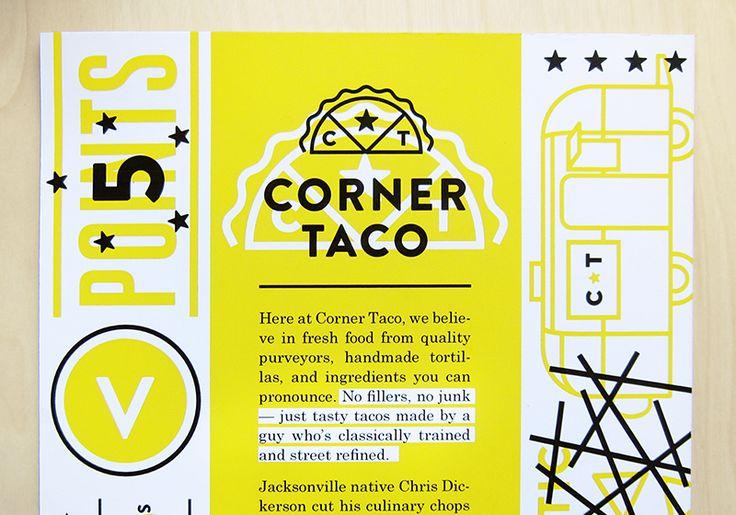 Taco Identity & Menu - Caitlin Robinson | Designer