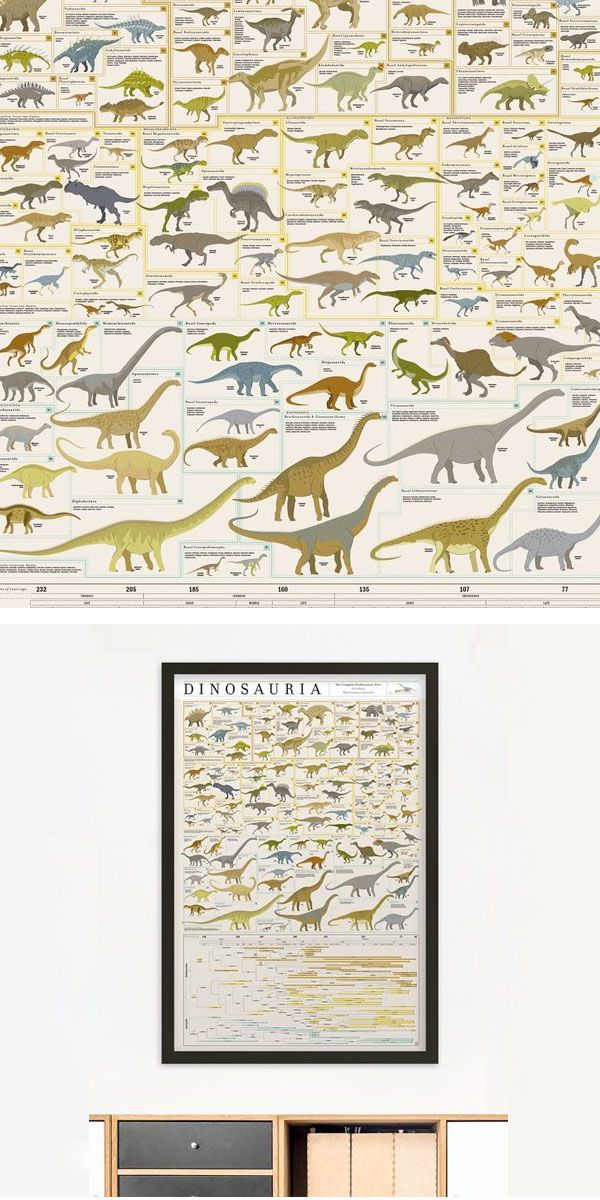 Dinosauria required over five hundred hours of research and illustration, to depict more than seven hundred genera in this (r)evolutionary taxonomy.