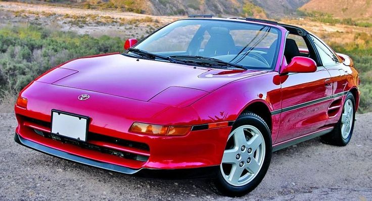 Toyota MR2. Looks just like the one without an engine in my garage...