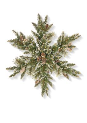 National Tree Company 32-In. Glittery Bristle Pine Snowflake With Led Infinity Lights - Green