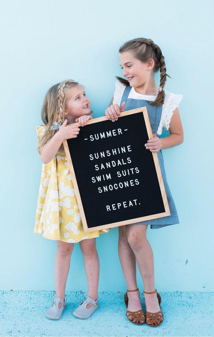The Statement Black Summer letter board quote idea