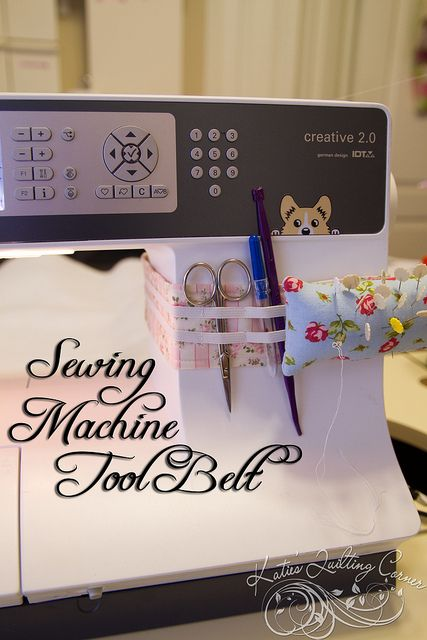Sewing Machine Tool Belt Tutorial by MagnoliaFly, via Flickr